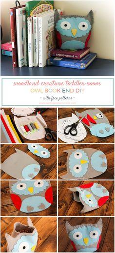 DIY Woodland book end