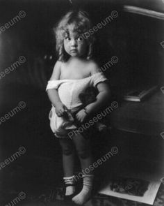 Beautiful-Little-Girl-Posing-In-Sunsuit-8x10-Reprint-Of-Old-Photo
