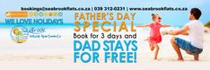 Book a stay for 3 days and DAD stays for FREE!