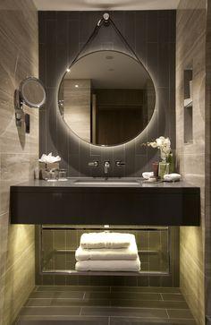 Hilton Bankside, UK Guestroom Bathroom Lighting by Elektra Lighting®