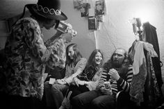 Jimi Hendrix films Janis Joplin and Sam Andrew, Joplin's guitar player, Winterland Ballroom, San Francisco, 1968