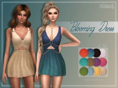 Blooming Dress at Trillyke via Sims 4 Updates