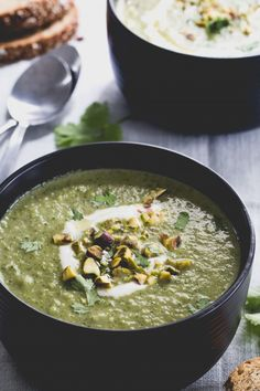 Thai Curry Broccoli Coconut Soup | I could use coconut oil instead of olive oil and add some cilantro leaves. I might add some baby spinach too. Add amount of water to make the consistency to your liking