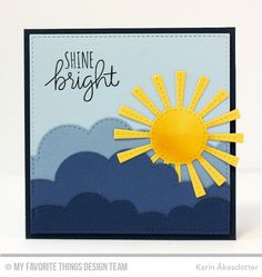 Lucky, Inside & Out Stitched Square STAX Die-namics, Sunny Skies Die-namics - Karin Åkesdotter   #mftstamps