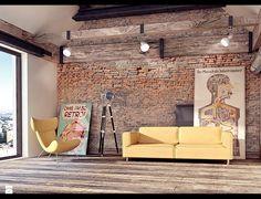 Zdjęcie: Salon styl Industrialny - Salon - Styl Industrialny - 4Uprojekt- Projekty wnętrz