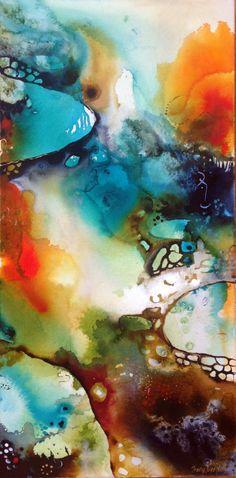 Tracy Verdugo. 2014. Deep Rhapsody (panel 1 of triptych). sold. http://artoftracyverdugo.blogspot.com