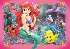 "Photo from album ""Русалочка"" on Yandex. Little Mermaid Wallpaper, Little Mermaid Drawings, Little Mermaid Tattoos, Mermaid Wallpapers, Ariel The Little Mermaid, Disney Frozen Olaf, Disney Princess Ariel, Disney Princesses, Jigsaw Puzzle Fun"