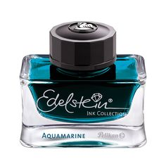 This bottle of Pelikan Edelstein Jade fountain pen ink is housed in a gorgeous glass bottle, pretty enough to display on your desk! Pelikan Edelstein Jade is a vibrant shade of green. The Edelstein Ink Collection comprises a handful of brilliant colo