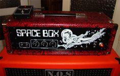 Soldano Space Box in red alligator