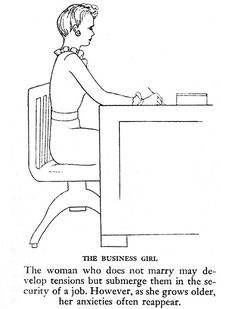 The anxieties of the unmarried. from The Pictorial Medical Guide, 1953