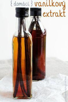 Vanilk extrakt+link na eshop s vanilkou Beauty Elixir, Home Canning, Recipe Mix, Home Food, Diy Food, No Bake Desserts, Food Inspiration, Sweet Recipes, Water Bottle