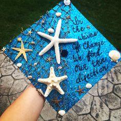 Graduation cap #ocean #waves #graduation