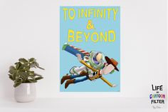 TOY STORY movie print-Toy Story minimalist movie poster, movie quote, wall art, movie poster