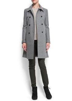Double-breasted wool coat - Women 21fae0d7e3