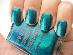 Nail Polish Porn: Obsessive Compulsive Cosmetics Man by Man is an absolute explosion of teal and emerald glitter! ~ we heart this