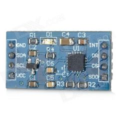 L3G4200D Digital Tri-axis Gyroscope Module for Arduino (Works with Official Arduino Boards). Model N/A Quantity 1 Color Blue Material PCB Features L3G4200D digital tri-axis gyroscope chip; Voltage input: DC 5V; Onboard XC6206 voltage- stabilization chip; Supports IIC and SPI communication protocol, recommend use IIC; 2.45mm pin pitch; Application For gaming, virtual reality input device, motion control , HMI, GPS, electrical equipment and robotics Packing List 1 x Module. Tags: #Electrical…