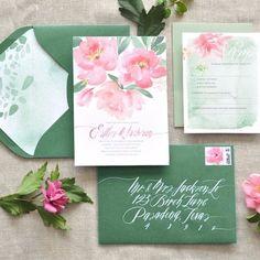 Ideias para casamentos nas cores verde e rosa