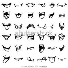Cartoon Drawing Tips hand draw cartoon mouth icon - Doodle Drawings, Cartoon Drawings, Easy Drawings, Doodle Art, Doodle Icon, Cartoon Mouths, Cartoon Eyes, Cartoon Cartoon, Cartoon Smile