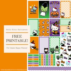 Halloween is coming up soon, so why not decorate your planner with some super cute Halloween stickers? These aren't just any old Halloween Stickers. They have Hello Kitty on them! Hello Kitty…