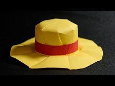 Origami Straw Hat - Mugiwara tutorial - DIY (with diagram) (Henry Phạm) Diy Origami, Origami Top Hat, How To Make Origami, Origami Folding, Useful Origami, Origami Tutorial, Origami Paper, Paper Hat Diy, Scouting