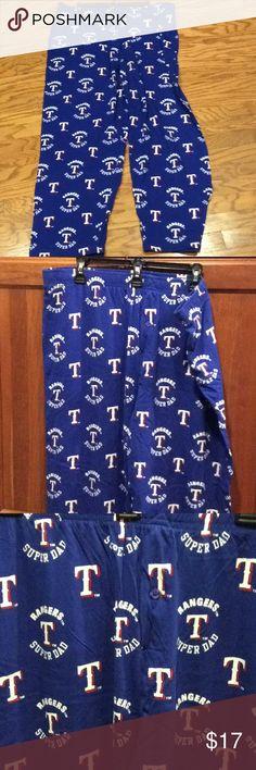 NWOT Texas Rangers Super Dad sleep pants MLB Official Merchandise Texas Rangers Super Dad pajama / sleep pants Sideline Pants
