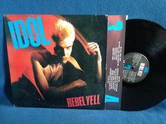 Vintage Billy Idol  Rebel Yell Vinyl LP Record by sweetleafvinyl