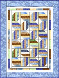 Downloadable Jelly Roll Quilt Patterns | MoonDance Jelly Roll Quilt Pattern Digital by LynBrownDotCom