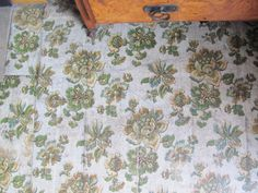 1906 Edwardian antique floral linoleum flooring in Sheffield house's bedroom Linoleum Flooring, Sheffield, Victorian Homes, Home Bedroom, Restoration, Interior Design, Antiques, Floral, Diy
