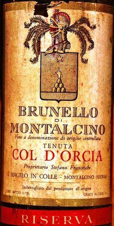 Brunello di Montalcino Ris. 1968 Col d'Orcia.