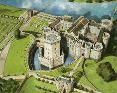 Raglan Castle Reconstruction Wales 1620 AD