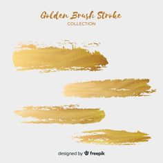 Golden brush stroke set Free Vector | Free Vector #Freepik #freevector #background #abstract-background #gold #abstract