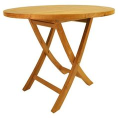 "Check out this item at One Kings Lane! 35"" Bahama Round Bistro Folding Table"