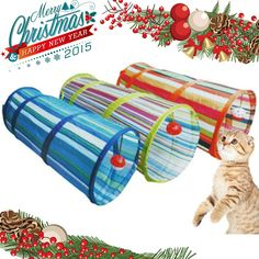 Cat Tunnel Crinkle With Ring Bell Kitten Play Toy Collapsible Colorful Ring Bell, Cat Tunnel, Kittens Playing, Crinkles, Pet Care, Pets, Toy, Colorful, Toys