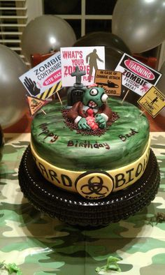 Zombie cake Cake Envy Pinterest Cake Zombie party and Birthdays