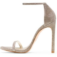 Stuart Weitzman NUDIST (£295) ❤ liked on Polyvore featuring shoes, sandals, gold shoes, stuart weitzman sandals, stuart weitzman shoes, gold sandals and stuart weitzman