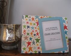 4x6 Star Themed  Hand Decorated Picture Frame by FrameCreations, $11.00