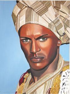 Desert man Oil On Canvas, Buddha, Statue, Black And White, Wall Art, Van, Black N White, Black White, Vans