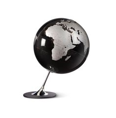 Atmosphere Anglo Black Modern World Globe - House of Globes