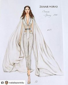 #Repost @nataliazorinliu with @repostapp ・・・ #fashion #fashionillustration #zuhairmurad #luxury #designer #paris #art #glamour #couture #hautecouture #runway #wedding #jumpsuit #event #instafashion #girl #hautecouture #instalike #beautiful #luxurious #embroidery #draw #drawing #followme #follow #jewelry #instagood #fabric #chic