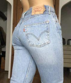 Jeans Women, Vintage Levis, Tights, Style Inspiration, Shape, Denim, Girls, T Shirt, Beautiful