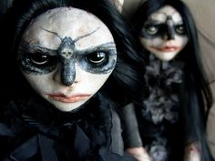 Sisters of Acherontia Atropos - Horka Dolls- They made dolls of us!! #creepgirls