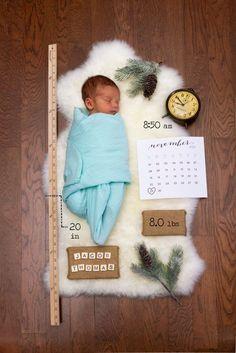 Adorable baby boy birth announcement!
