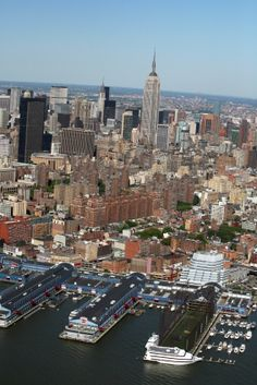 Chelsea and its piers in New York City