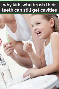Does your child brush their teeth every day and still get cavities? Learn why children who brush their teeth can get tooth decay and what to do about it. Causes Of Mouth Ulcers, Best Mouthwash, What Causes Tooth Decay, How To Prevent Cavities, Receding Gums, Pediatric Dentist, Natural Parenting, Parenting Tips, Best Oral