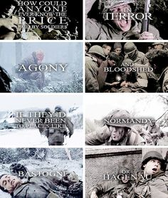 """Quote from Pfc. David Kenyon Webster as played by Eion Bailey in """"Part Eight: The Last Patrol. Band Of Brothers Quotes, Series Movies, Tv Series, Eion Bailey, Brass Knuckles, Movies Showing, I Movie, Ww2, Photo S"""
