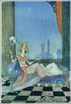 """Virginia Frances Sterrett - illustration (""""The Arabian Nights"""", 1928)"""