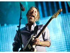 Thom Yorke performing with Radiohead at Coachella 2012.