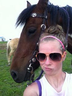 Selfie with my horse! Haha