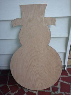 Unfinished Wooden Snowman Door Hanger Wreath Craft By Cute2theCoor