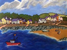 Acrylic Artwork, Acrylic Paintings, Newport Bay, Seaside Art, Visit Wales, Inspiration Wall, Welsh, Beaches, Landscapes